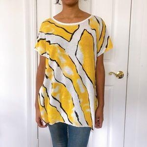 Love Moschino yellow and white linen tunic